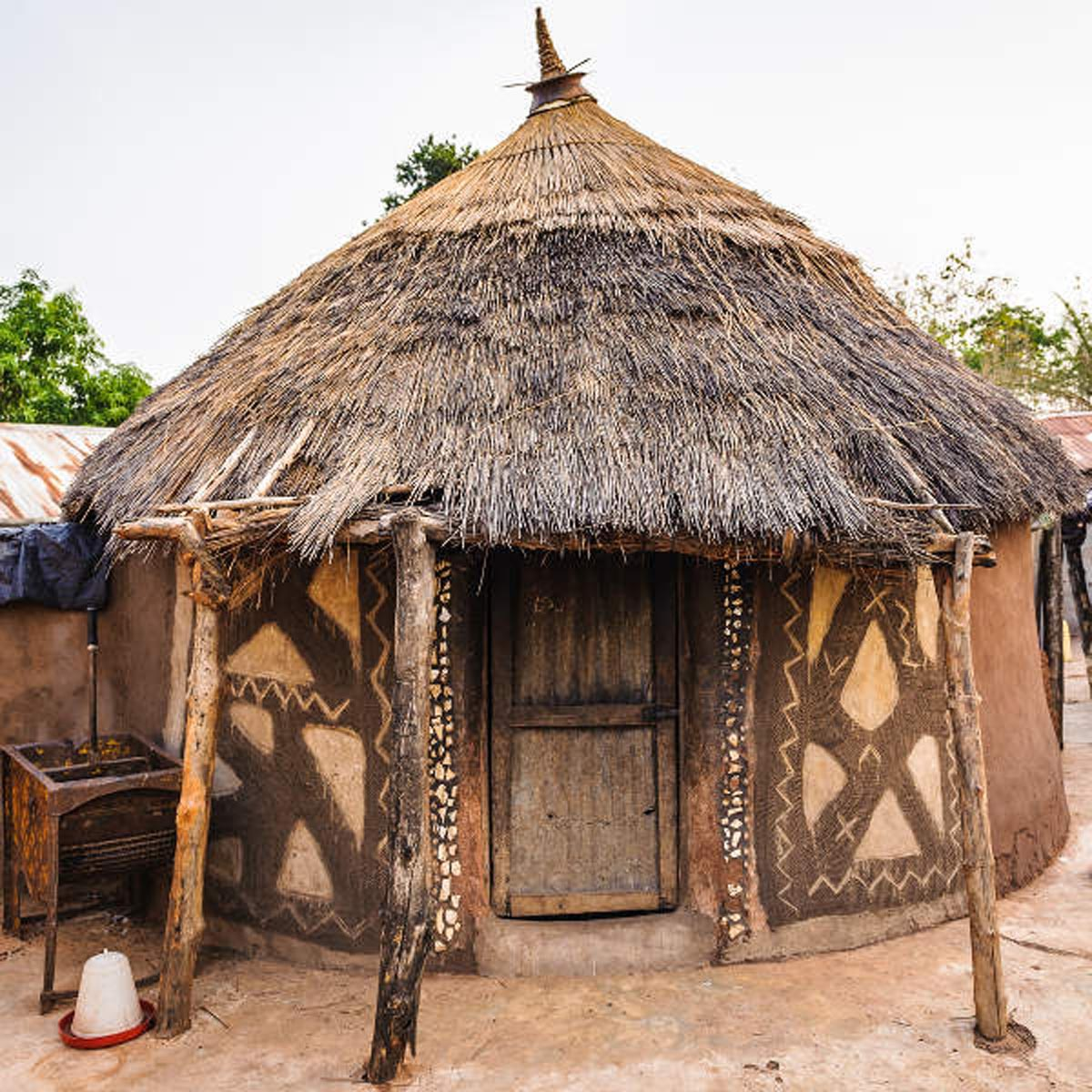 Hand made house in Ghana, Africa