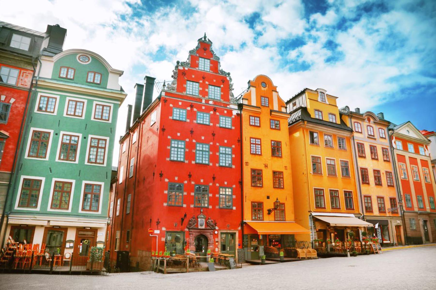 Stortorget sted i Gamla Stan, Stockholm, Sverige