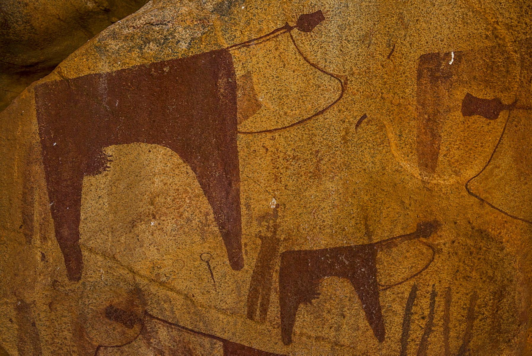 Cave paintings in Lass Geel caves, Somaliland, Somalia